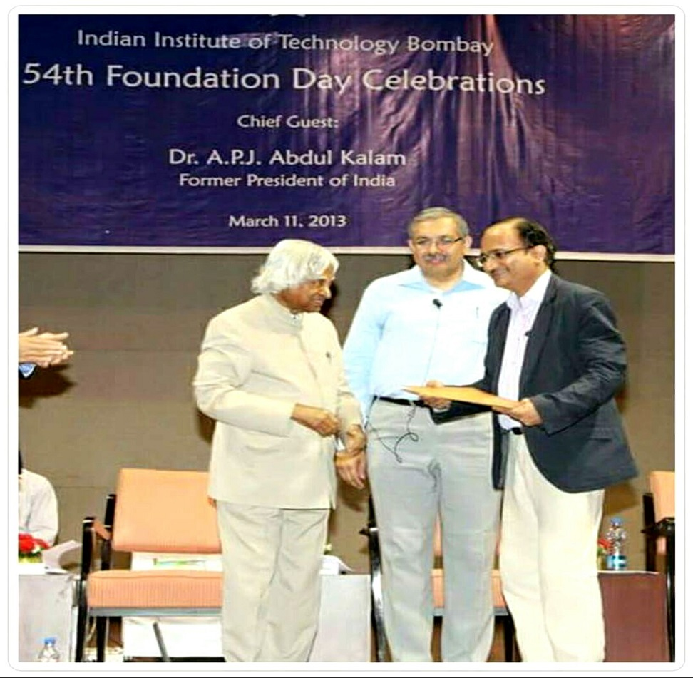 Dr. Rampgopal Rao awarded by Dr. APJ Kalam